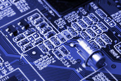 System, Motherboard, computer and electronics background Royalty Free Stock Photography