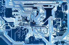 System, Motherboard, computer and electronics background Stock Image