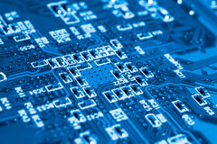 System, Motherboard, computer and electronics background Stock Photography