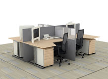 System office desks Royalty Free Stock Photography