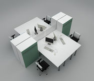 System office desks with partitions Stock Photography