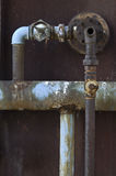 System of old conduit. System of old rusty conduit Stock Image