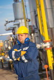 System operator in oil and gas production royalty free stock image