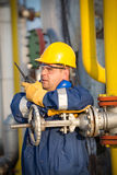 System operator in oil and gas production Stock Photos