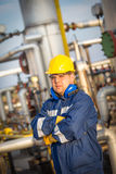 System operator in oil and gas production Stock Images