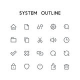 System outline icon set Stock Photography
