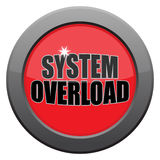 System Overload Dark Metal Icon. A system overload icon isolated on a white background Royalty Free Stock Photo