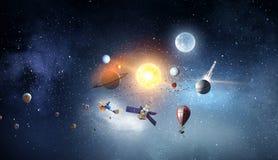 System planety Mieszani środki Mieszani środki Obraz Royalty Free
