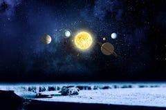 System planety Mieszani środki Zdjęcie Royalty Free