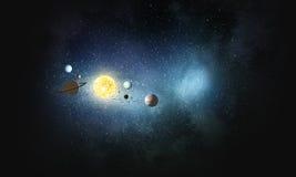 System planety Mieszani środki Obrazy Royalty Free