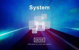 System Progress Production Structure Accessible Concept Royalty Free Stock Images