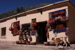 System in Pumamarca Stockfotografie