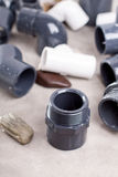 System PVC-U fittings Stock Image