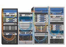 System rack Royalty Free Stock Images