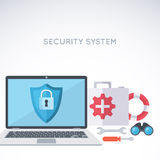 System security background Stock Photography