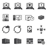 System security and System Development icons. Vector icons set Royalty Free Stock Photography