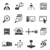 System security and System Development icons. Vector icons set Royalty Free Stock Image