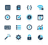 System Settings Interface Azure Series Royalty Free Stock Images