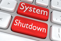 System Shutdown concept Royalty Free Stock Photos