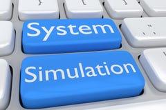 System Simulation concept Stock Photos
