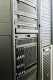 System storage and blade servers. Rack mounted system storage and blade servers Stock Images