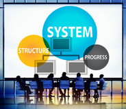 System Structure Progress Processing Procedure Concept Stock Image
