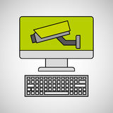 System technology protection icon design. Vector illustration eps 10 Royalty Free Stock Photos