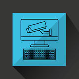 System technology protection icon design. Vector illustration eps 10 Royalty Free Stock Photo