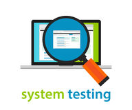 System testing software quality assurance approval process coding programming application review Stock Photo