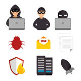 System threats concept icons Stock Photo