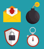 System threats concept icons Stock Images