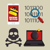 System threats concept icons Stock Photography
