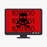 System threats concept icons Royalty Free Stock Photos