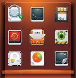 System tools. Mobile devices apps/services icons. Part 8 of 12 Stock Illustration