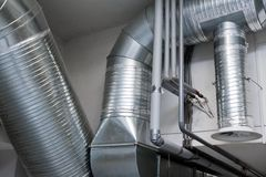 System of ventilating pipes Royalty Free Stock Photography