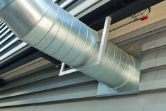 System of ventilating pipes Stock Images