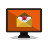 System virus email laptop Royalty Free Stock Photos