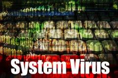 System Virus Technology Background. System Virus Message Technology Background stock illustration