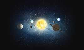 System von Planeten Gemischte Medien lizenzfreie stockbilder