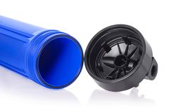 System of water purification filter. On a white background isolation Royalty Free Stock Images