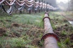 System wodny przy węglowym nawierzchniowego kopalnictwa hambach Germany Zdjęcie Stock