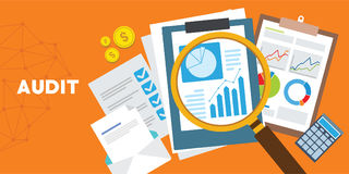Systematic and independent examination audit system Stock Image