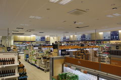 Systembolaget in Sweden, state liquor store, alcohol, public health stock photos