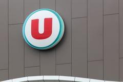 Systeme U超级市场在法国 库存照片