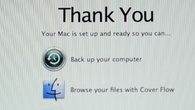 Systempreferenssymboler på Apple MacOS X på iMac datorer stock video