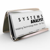 Systems Analyst Business Card Holder Computer Technology Special Stock Photo