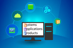 Systems, Applications and Products stock illustration