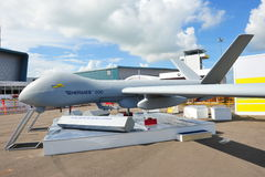 Systems Hermes 900 UAV at Singapore Airshow 2012 Royalty Free Stock Photos