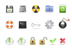 Systems-Ikonen Stockfoto