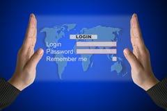 Systems-LOGON-Schnittstelle Lizenzfreie Stockbilder